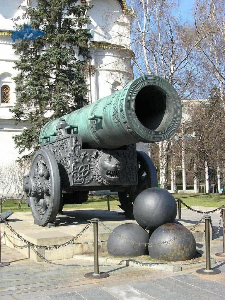 El Cañón del Zar; Kremlin de Moscú