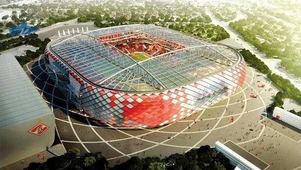 El estadio de fútbol Spartak en Moscú