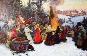 Fiesta de fin de invierno; La fiesta de crepes; La fiesta Maslenitsa